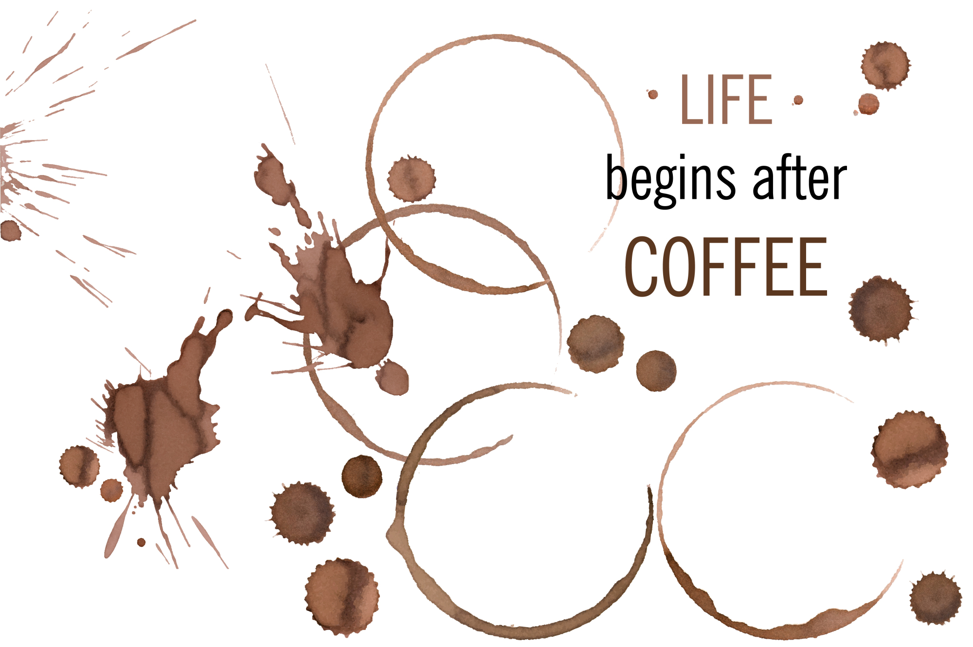 Wine and coffee stains example image 2