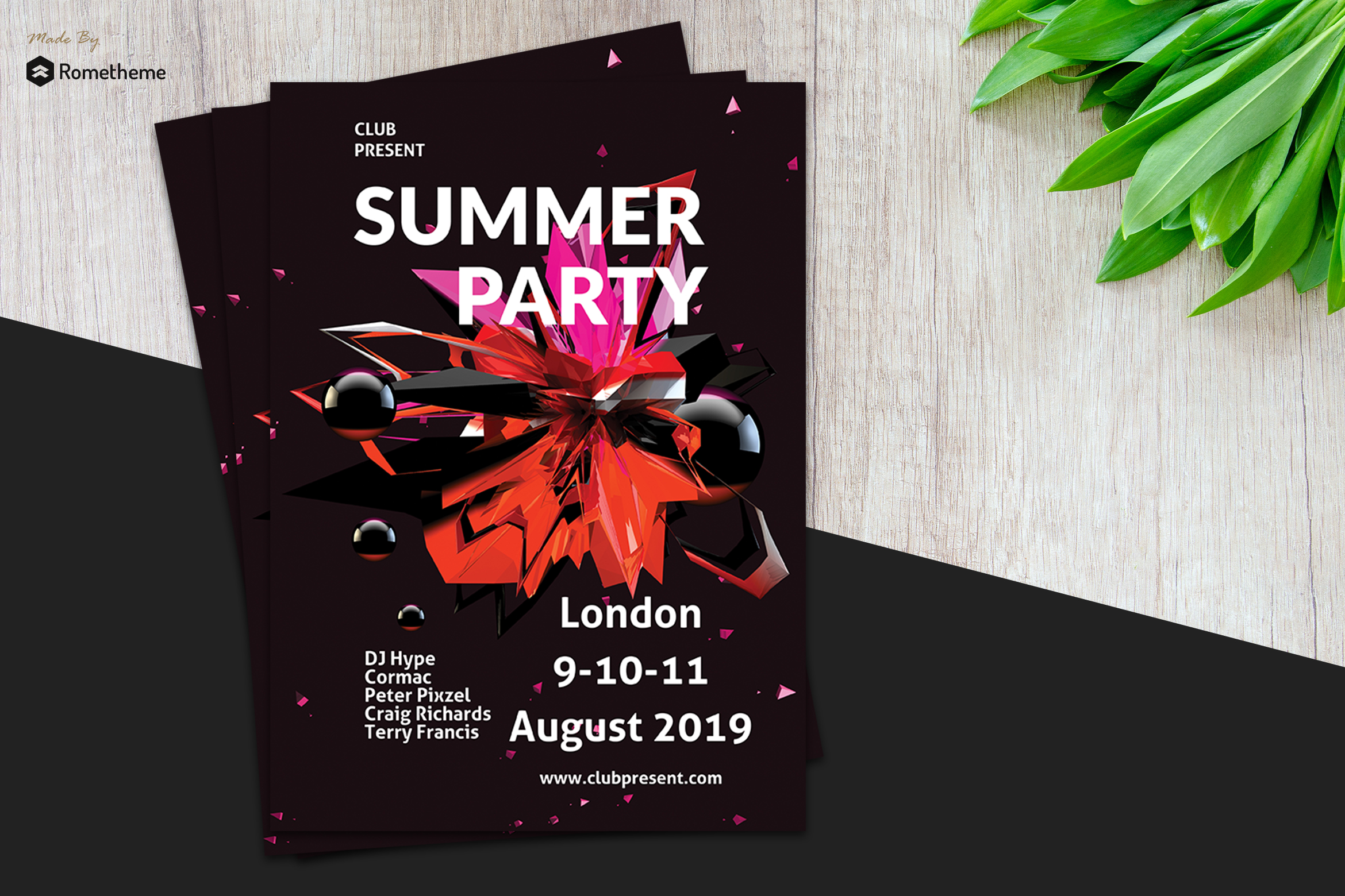 Minimal Summer Party Flyer vol.1 example image 1