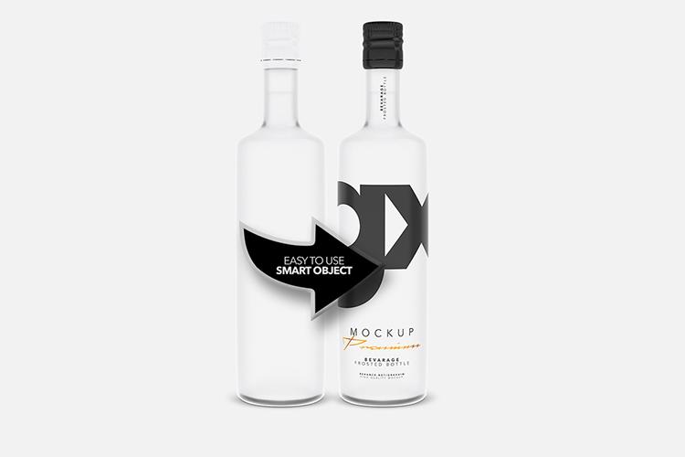 Beverage - Frosted Bottle - Mockup example image 3