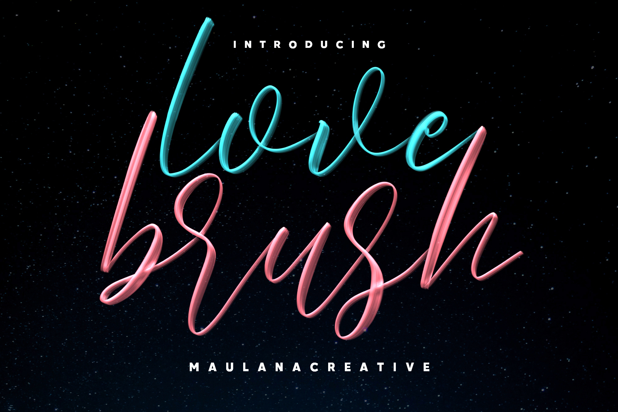 Love Brush SVG Font - Free Sans example image 1