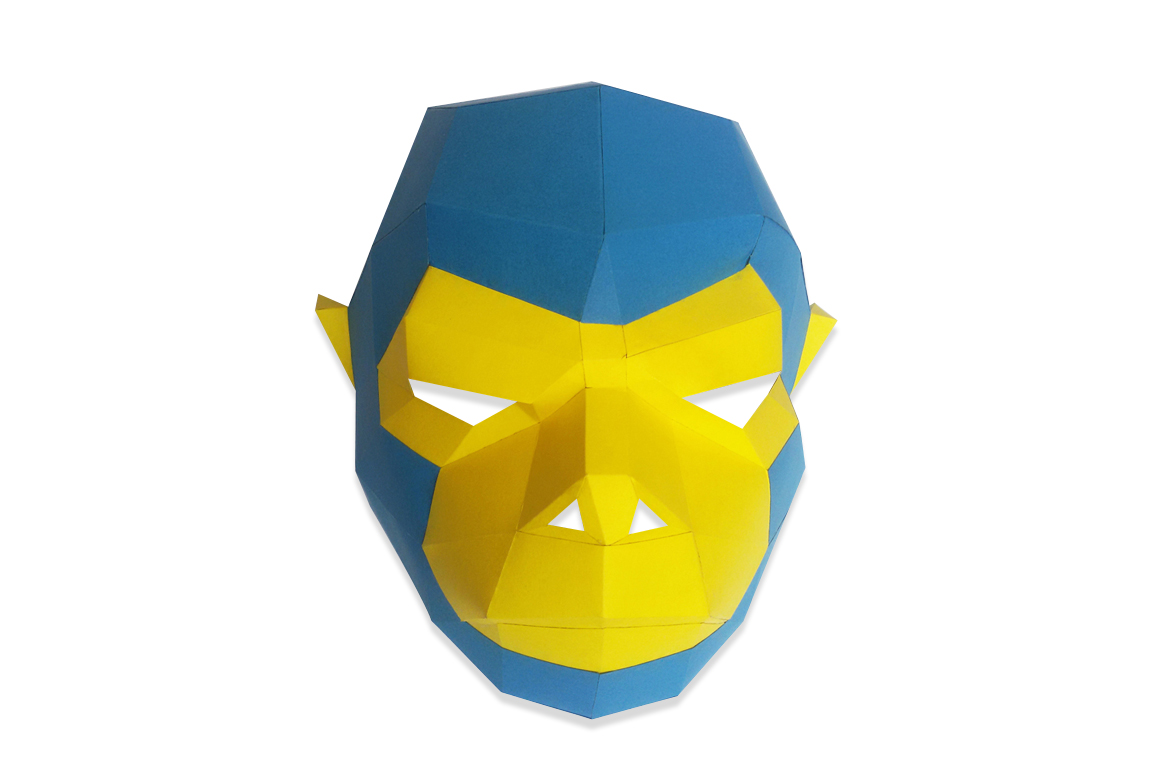 DIY Monkey Mask - 3d papercraft example image 2