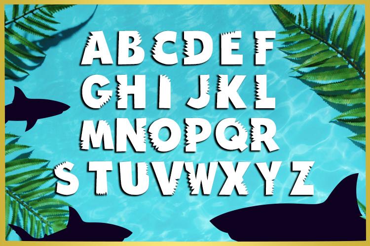 Shark Bite Font example image 2