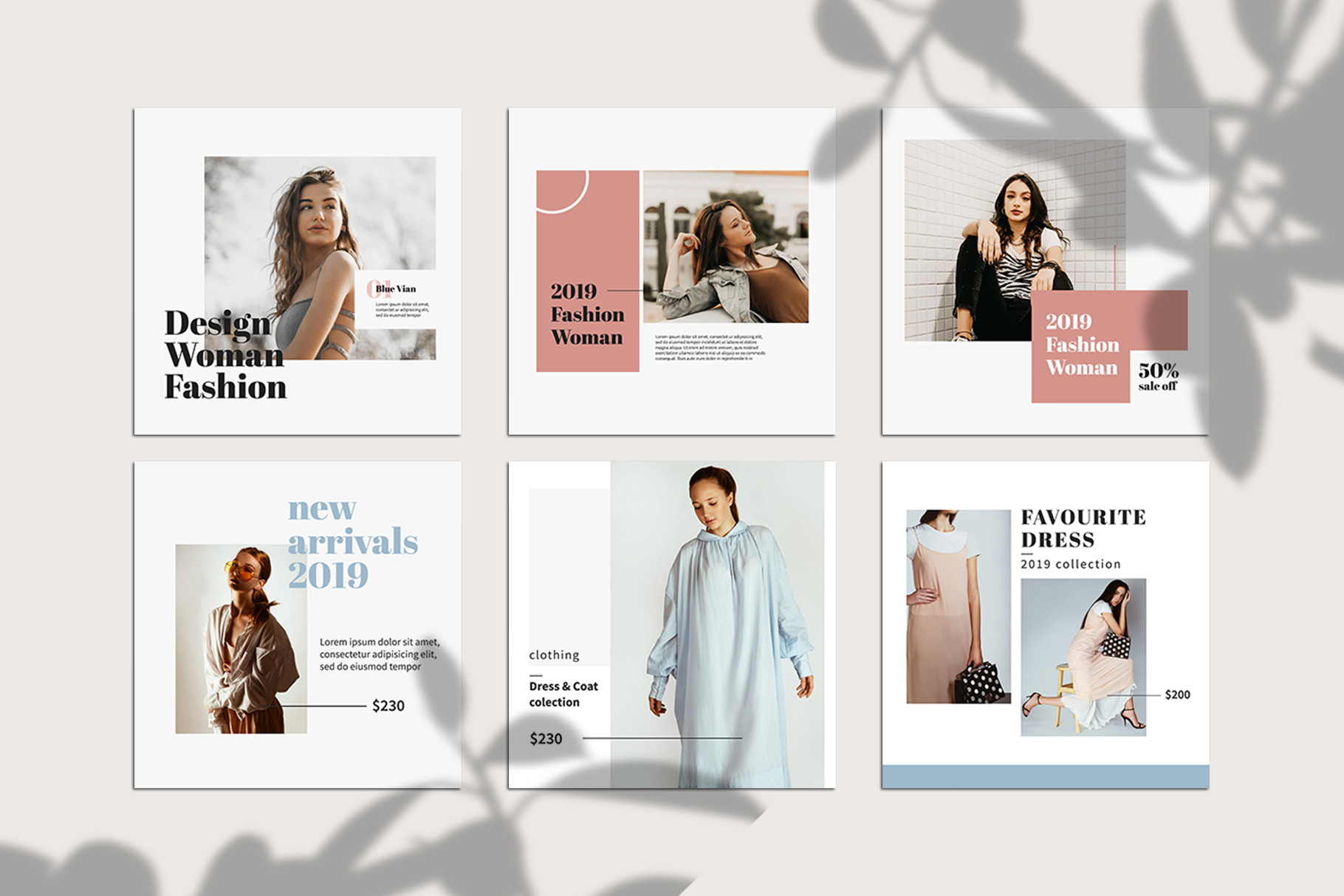 Fashion Instagram Templates example image 4