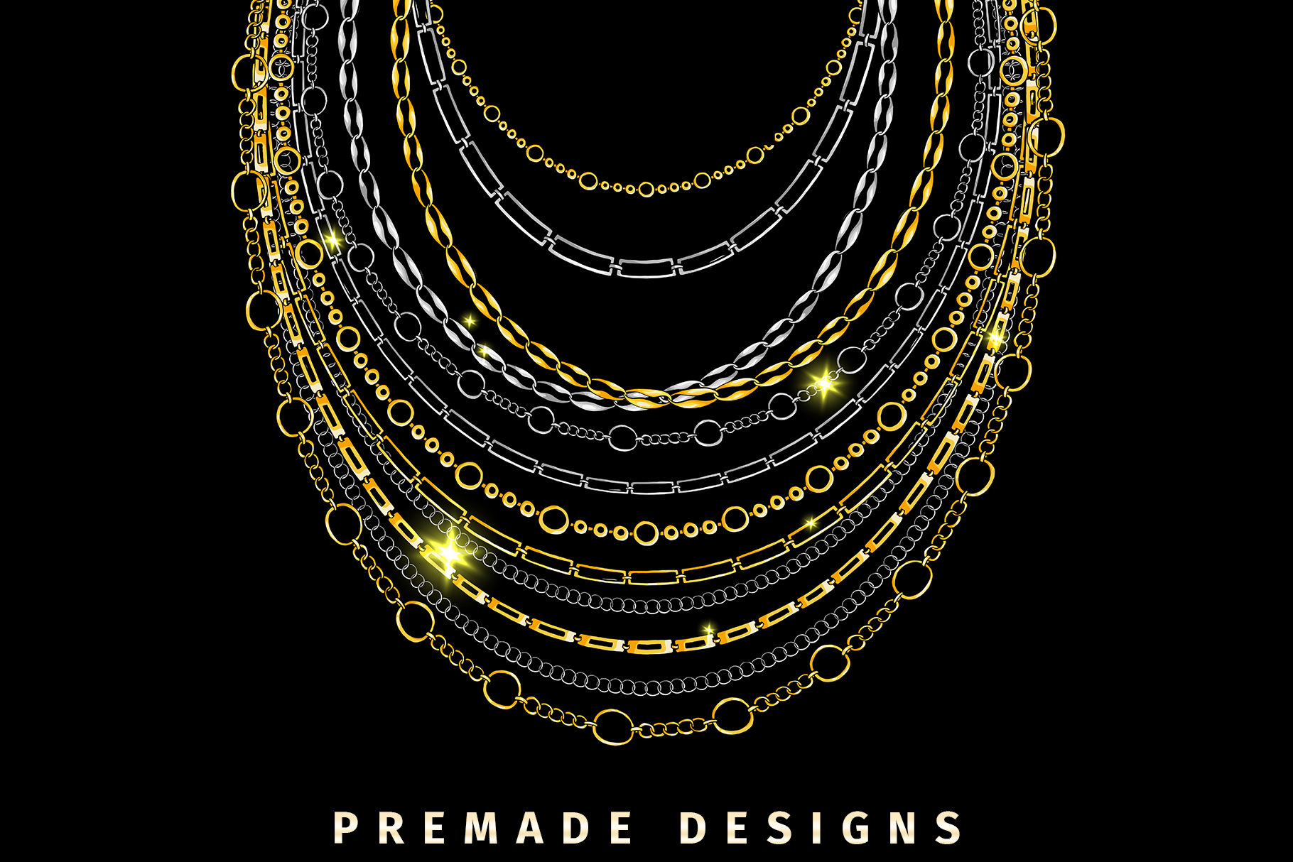 Chains Jewelry Graphics Pack example image 5