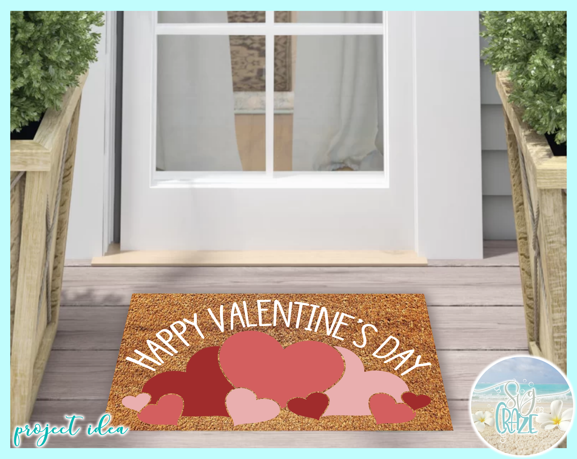 Happy Valentines Day Hearts And Roses Mini Bundle SVG example image 2
