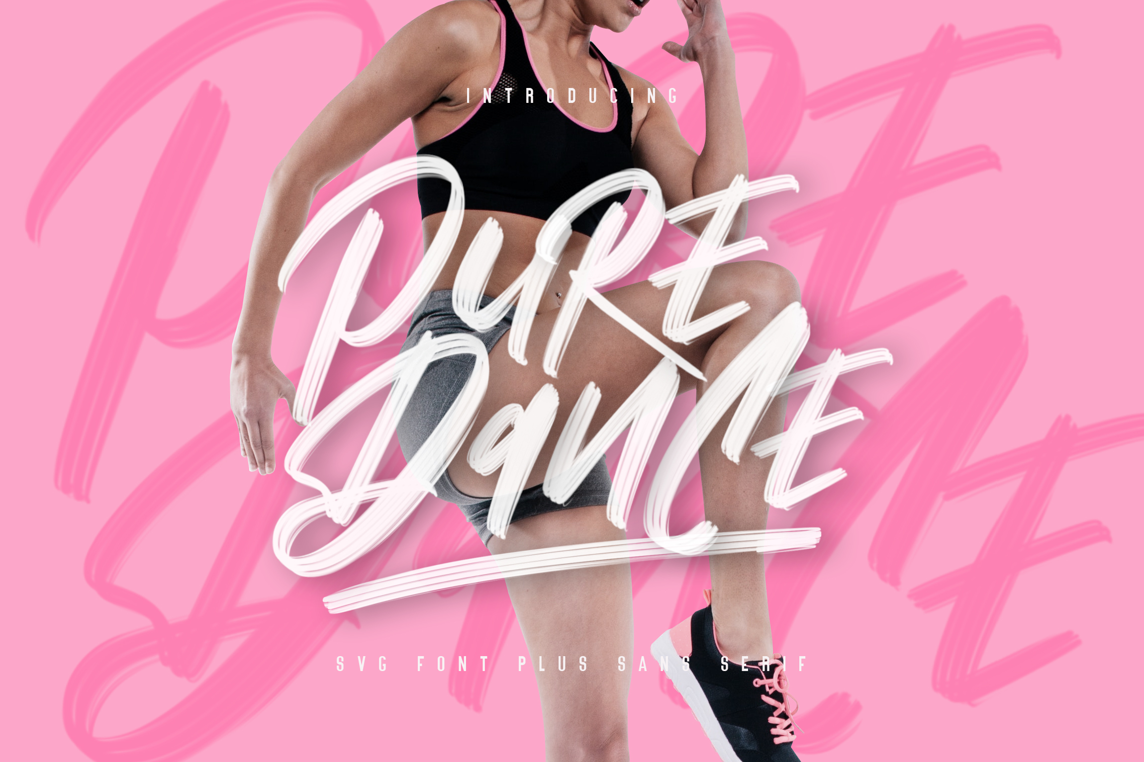 Pure Dance - SVG Font example image 1