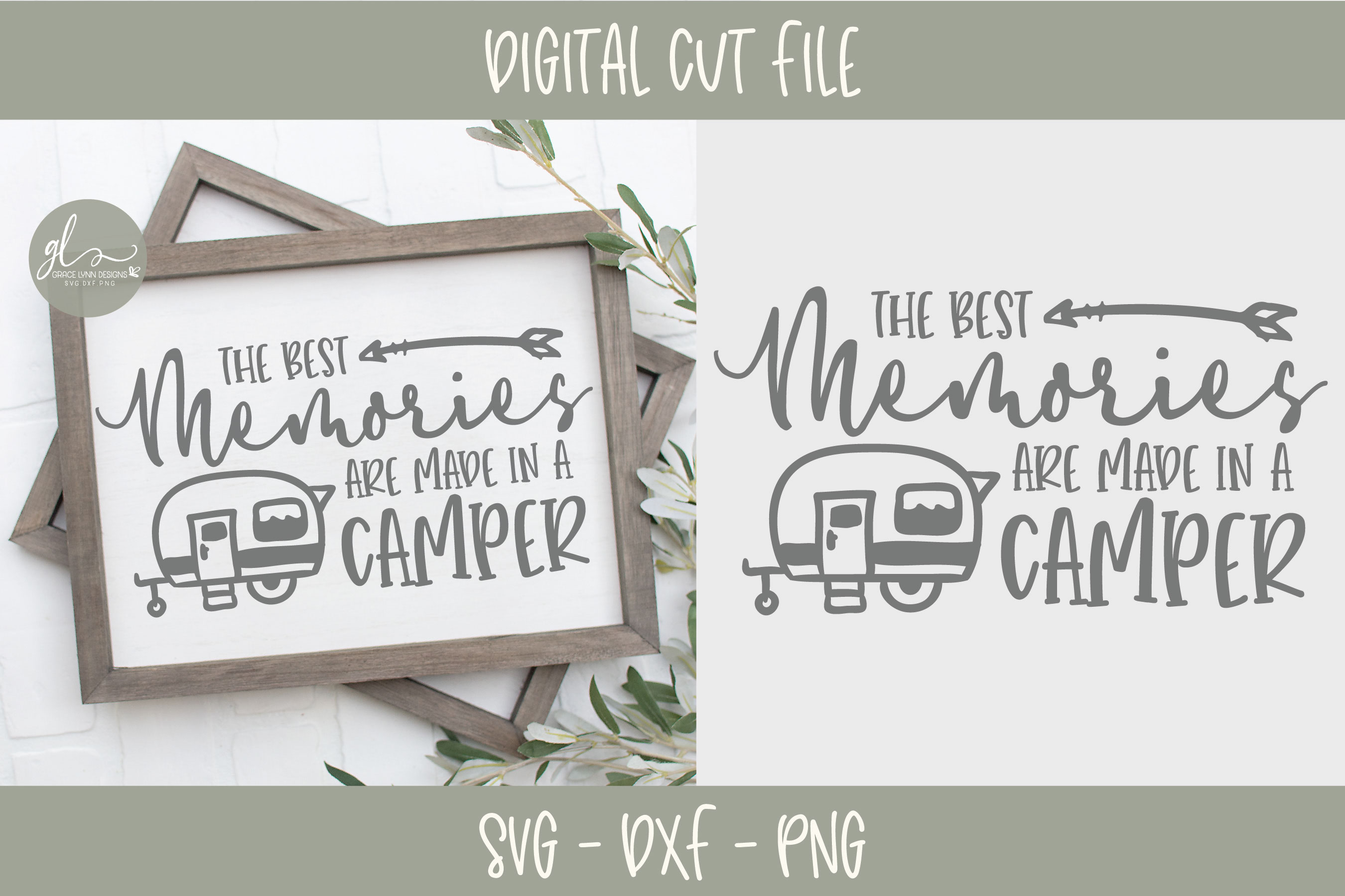 Camping Bundle - 10 Camping SVG Cut Files example image 6