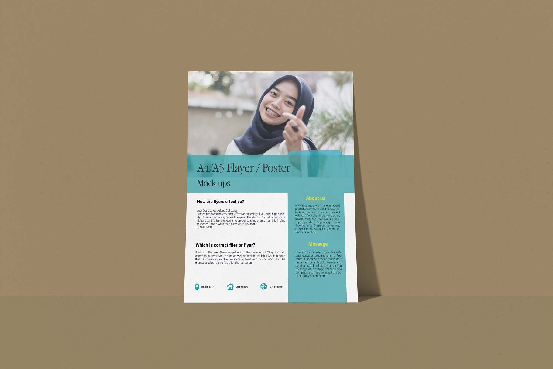 A4 Flyer / Poster Mockup example image 3