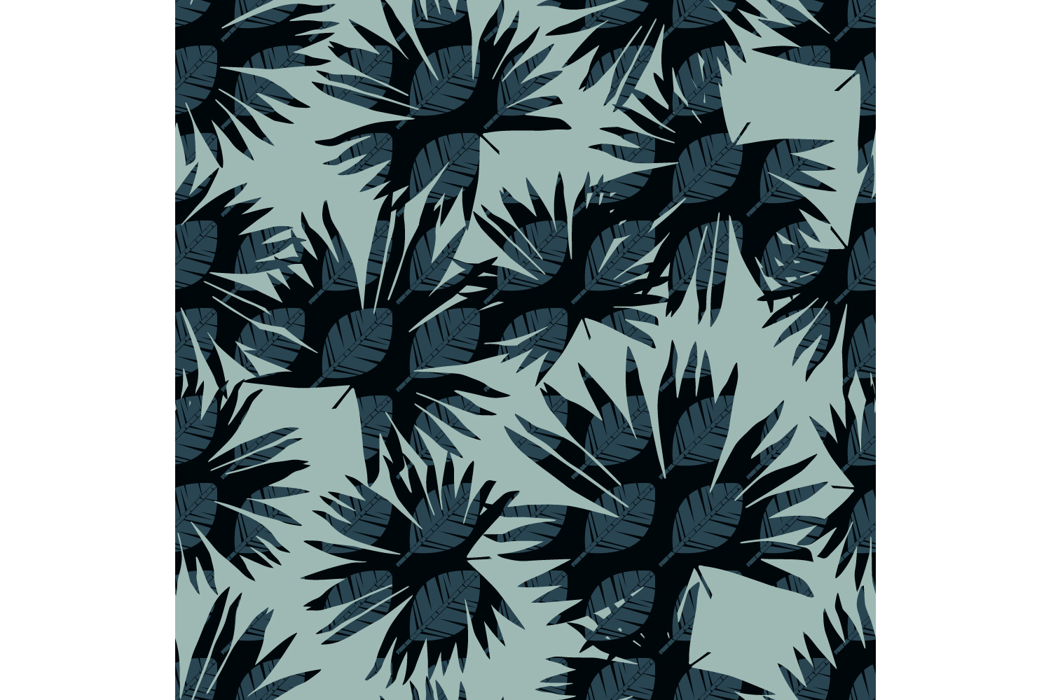 Tropical palm leaves. Set of 10 seamless patterns. example image 5