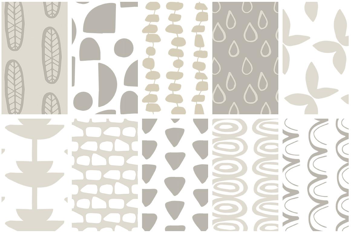 Scandinavian Patterns set of 40 example image 5
