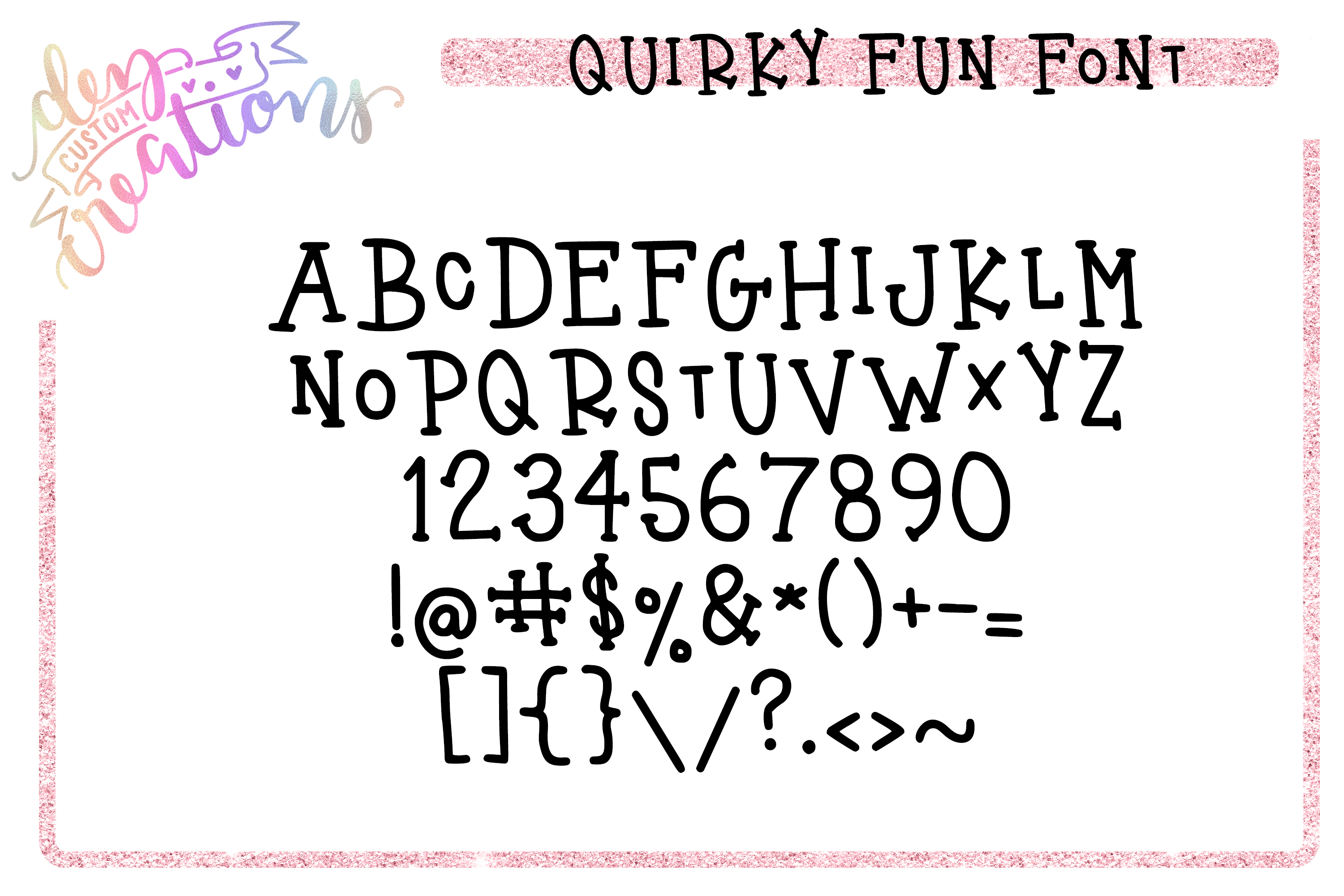 Quirky Fun - Hand Lettered Serif Font example image 10