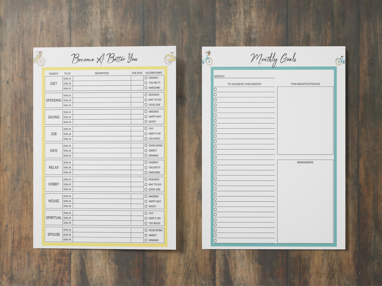 Life Planner Binder, Goal Planner Printable, Life Organizer example image 4