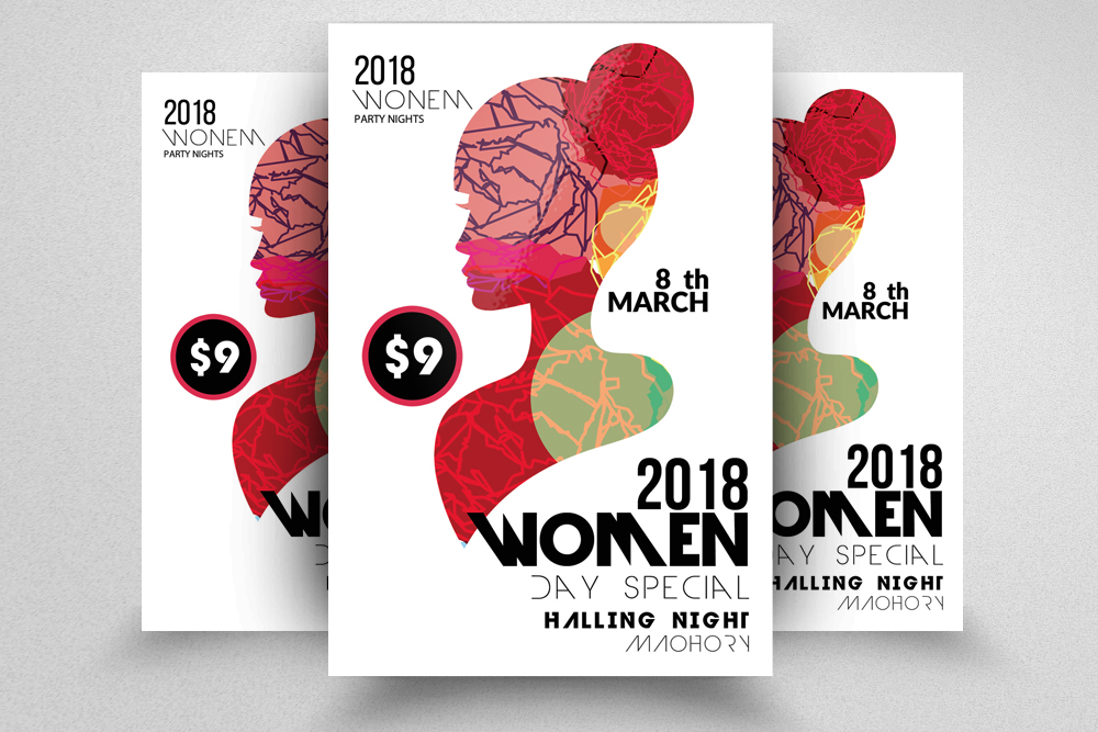 Women Day Flyer Template example image 1