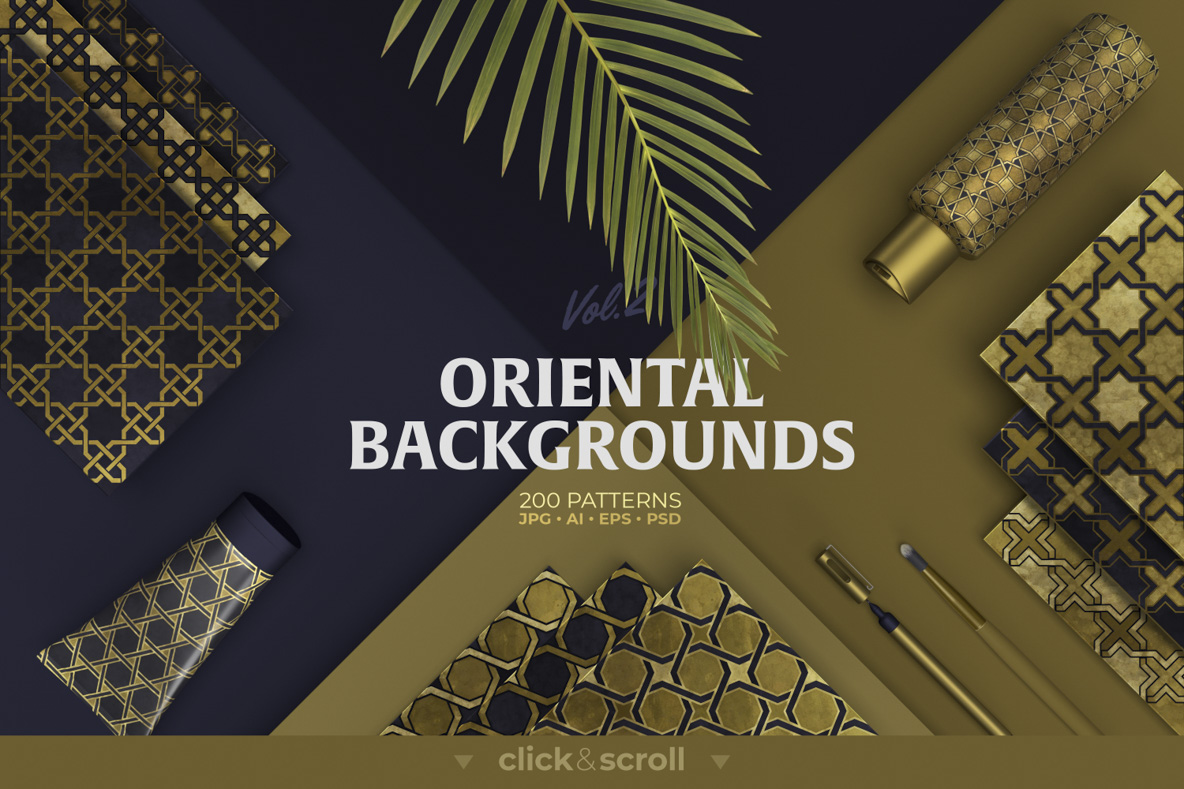200 Oriental Backgrounds collection example image 1