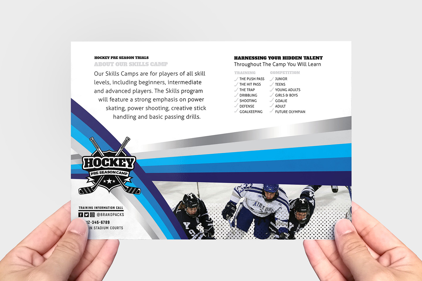 Hockey Club Flyer Template example image 3