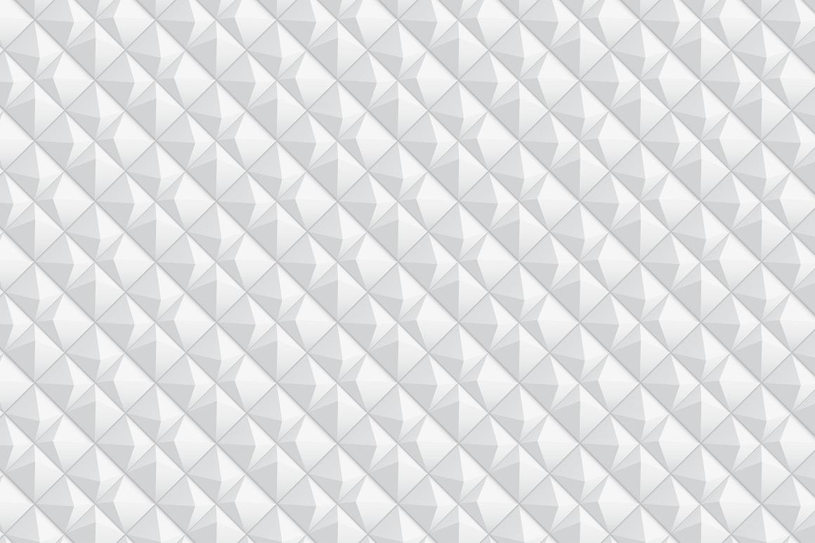 Decorative white seamless textures example image 3