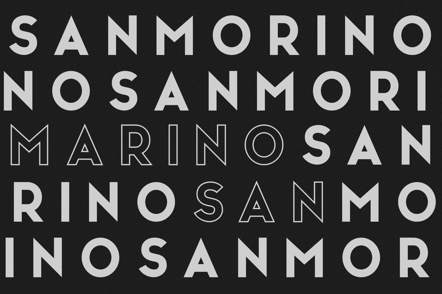 San Marino // Four Font Files example image 6