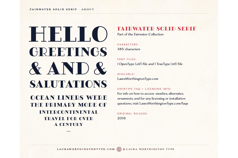 Fairwater Solid Serif example image 6