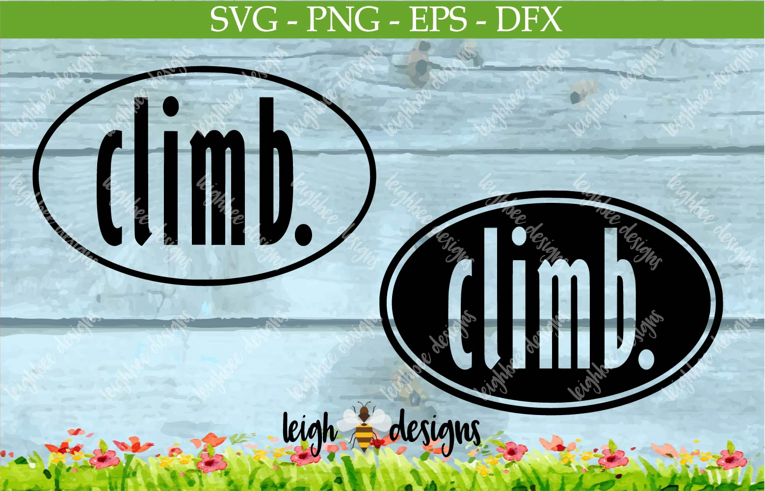 Climb Oval SVG/DFX/PNG/EPS File  example image 1