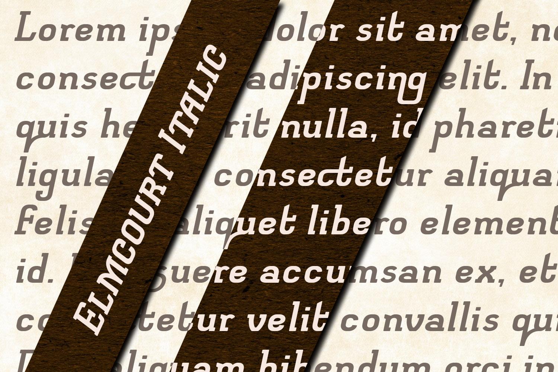 Elmcourt Italic example image 3
