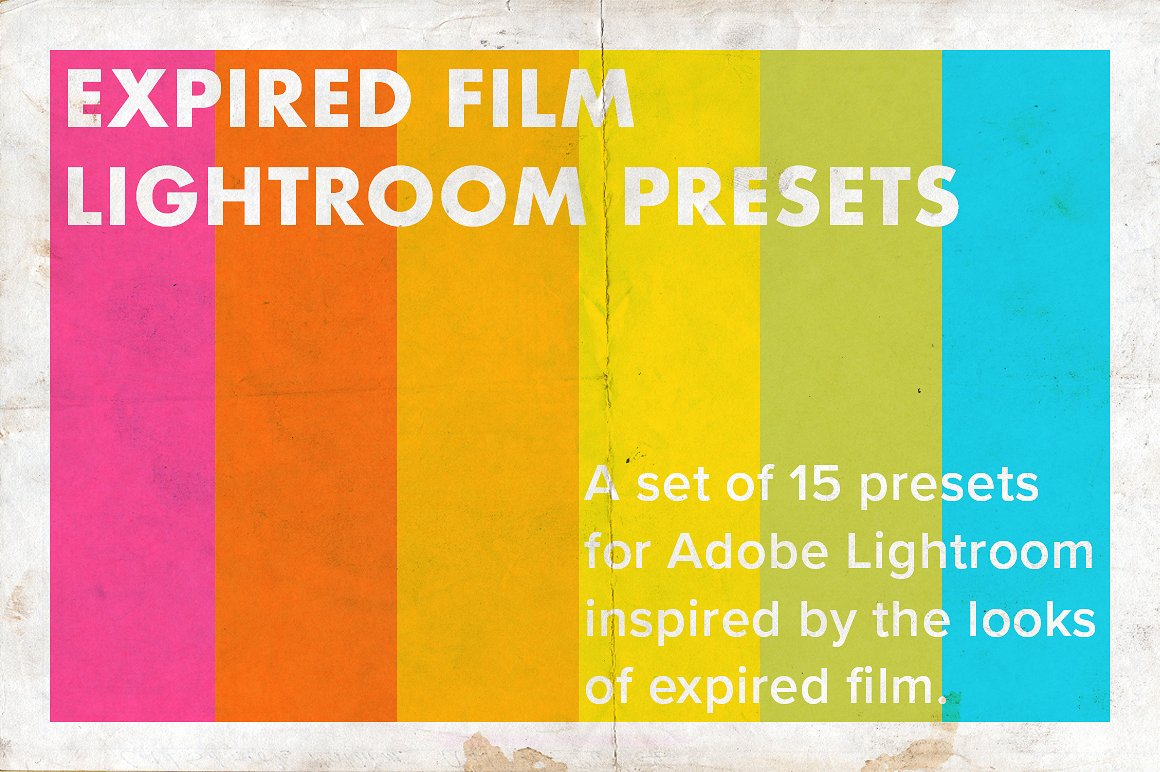Expired Film Set of Lightroom Presets example image 1