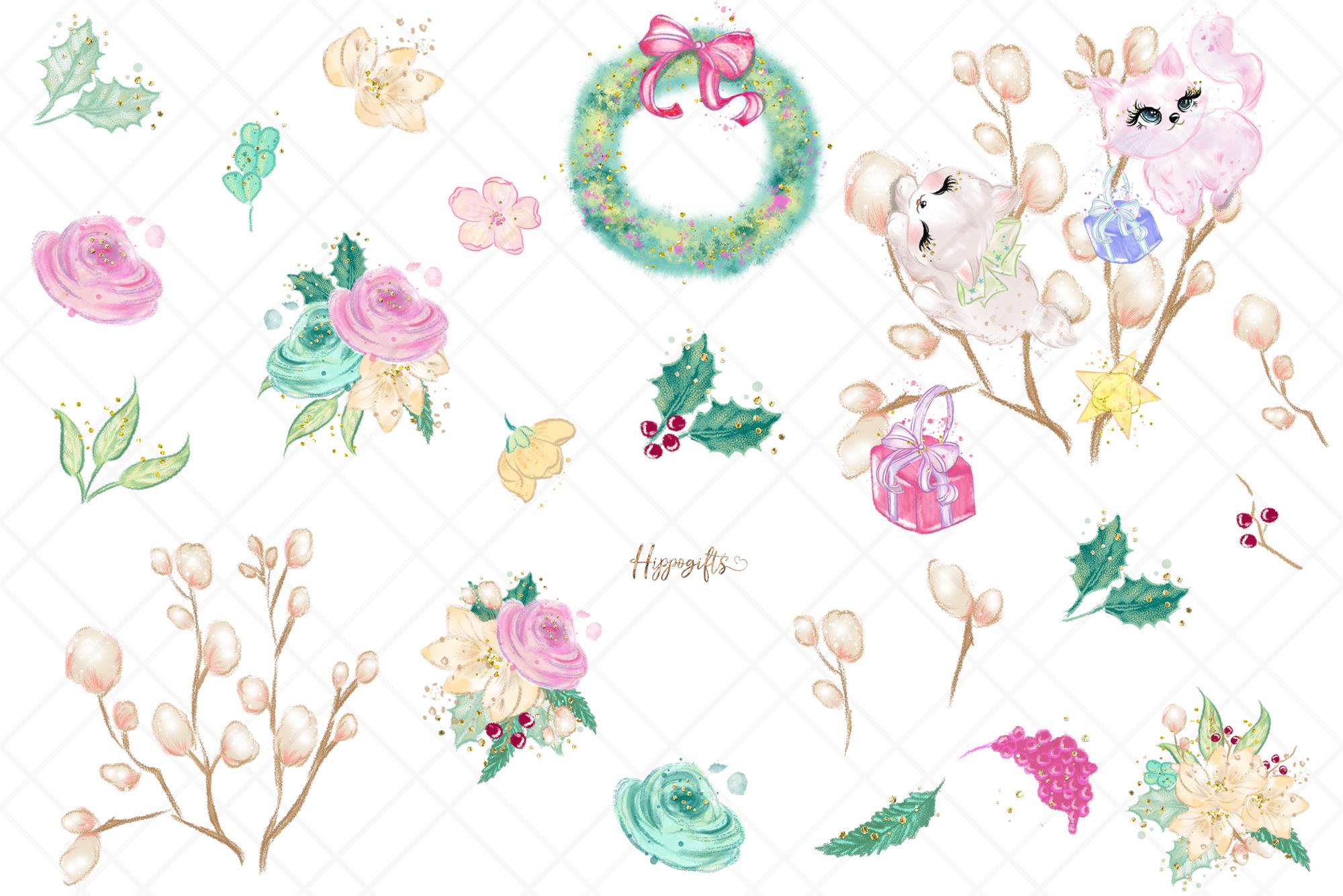Animals Christmas Clip Art example image 4