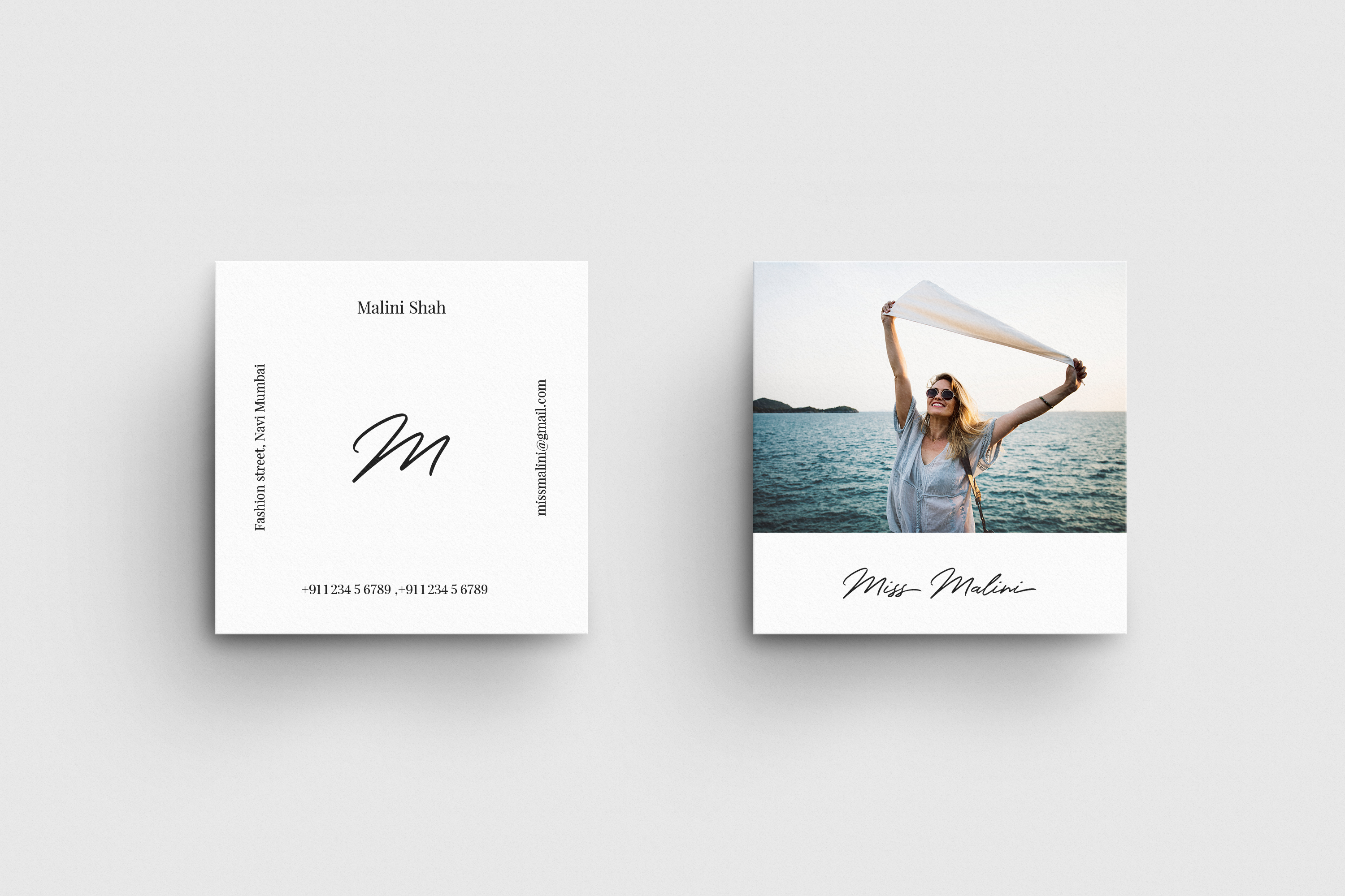 4 Business Card MockUps example image 3