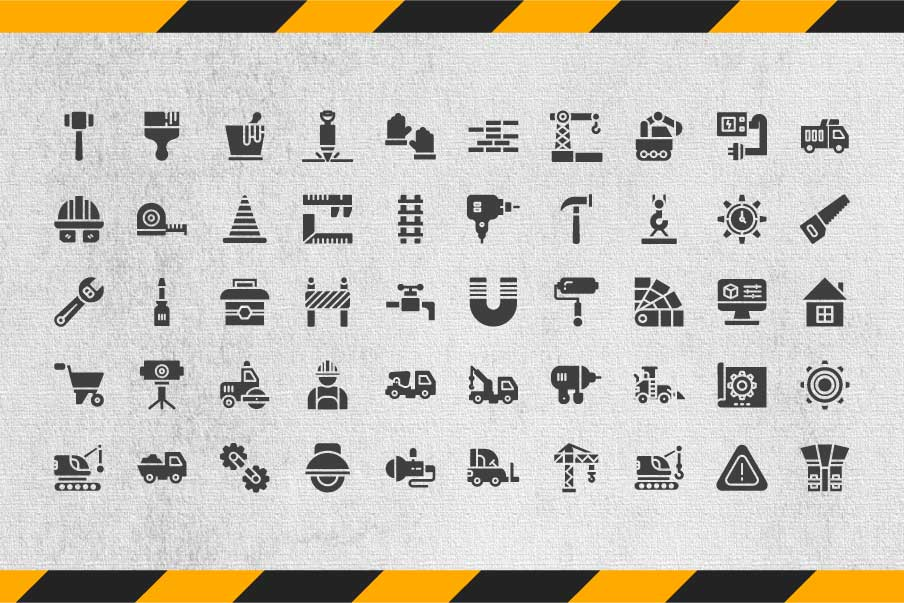 200 Construction Icon Pack example image 3
