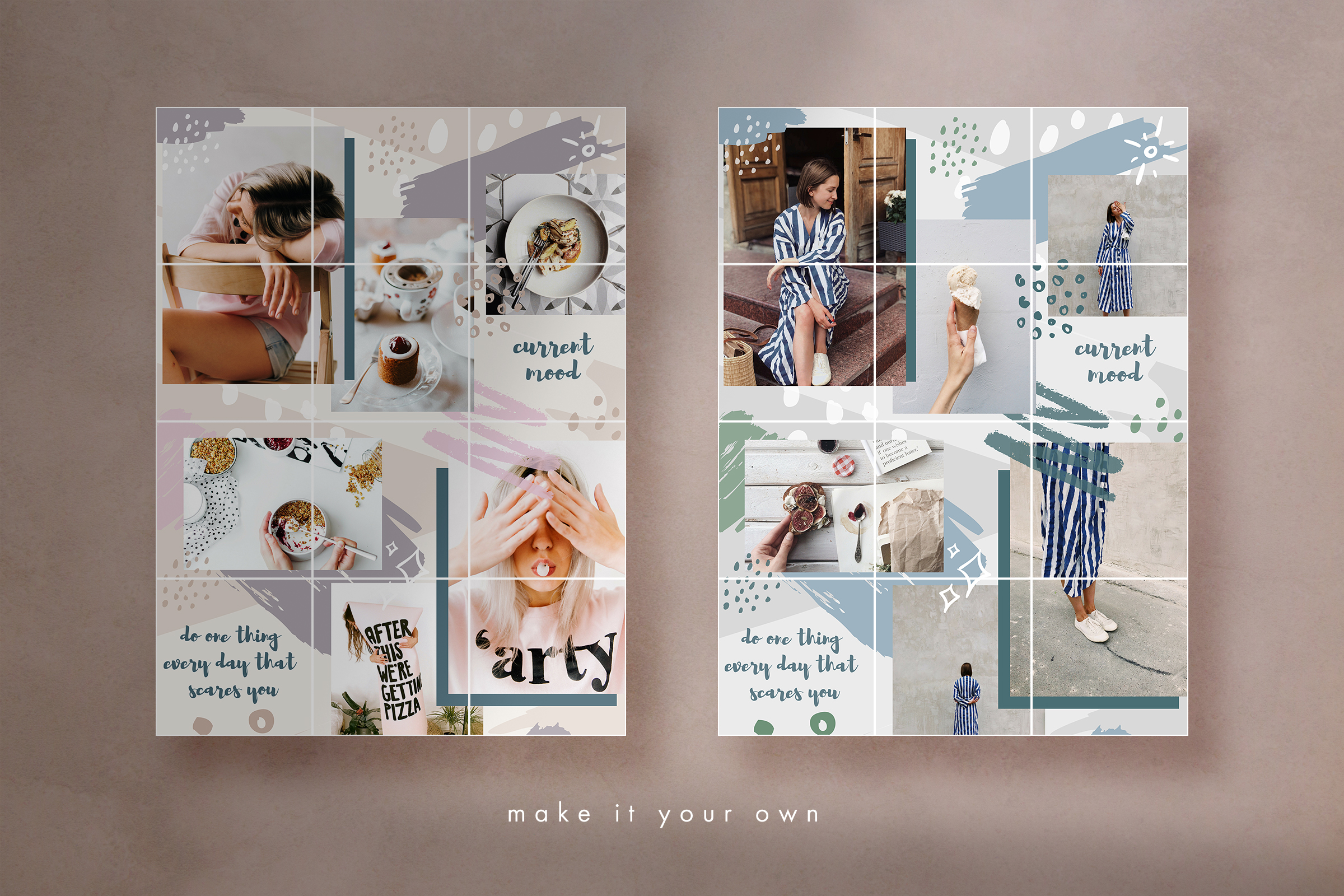 Instagram grid layout pack for Canva example image 6