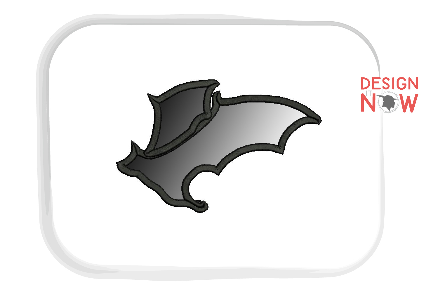 Bat Applique Design, Halloween Embroidery Pattern, Witch example image 2