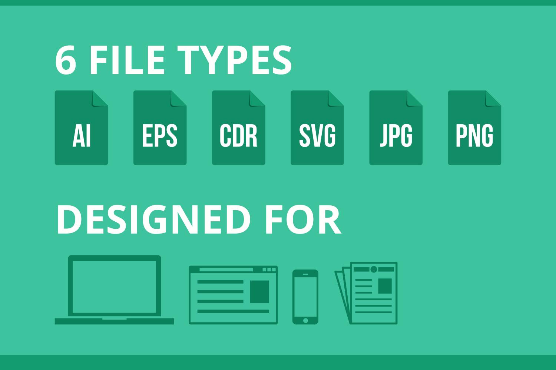 55 Computer & hardware Flat Icons example image 5