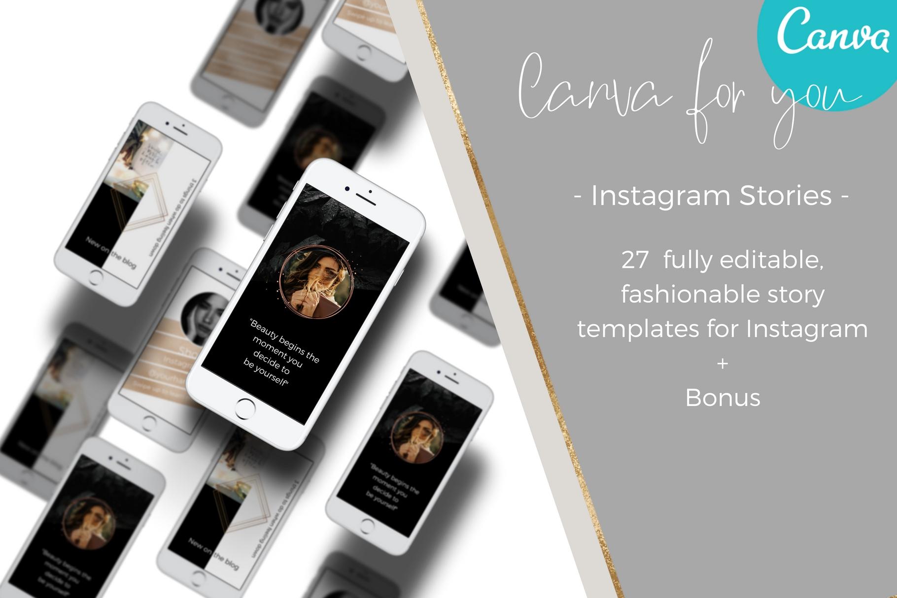 Dark style Instagram stories example image 5
