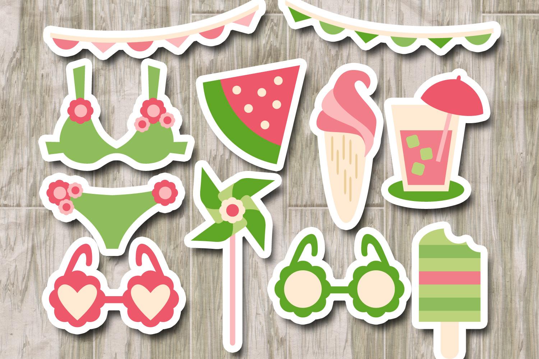 Summer picnic - bikini, ice cream, sunglasses - Pink Lime example image 2