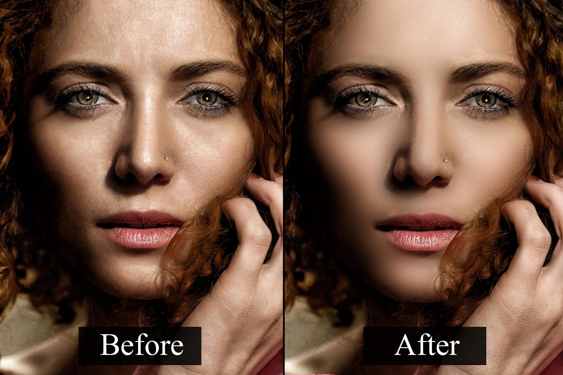 Skin Retouching Photoshop Actions example image 2