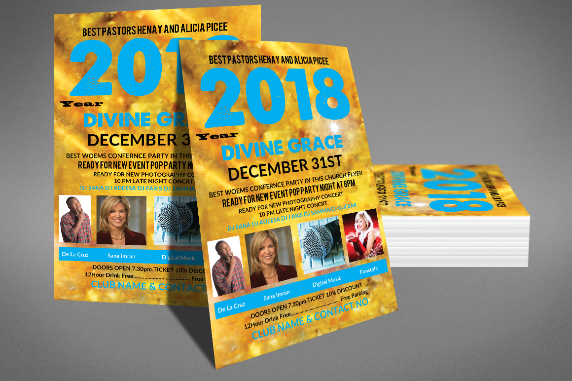New Years Celebration Poster Template example image 2