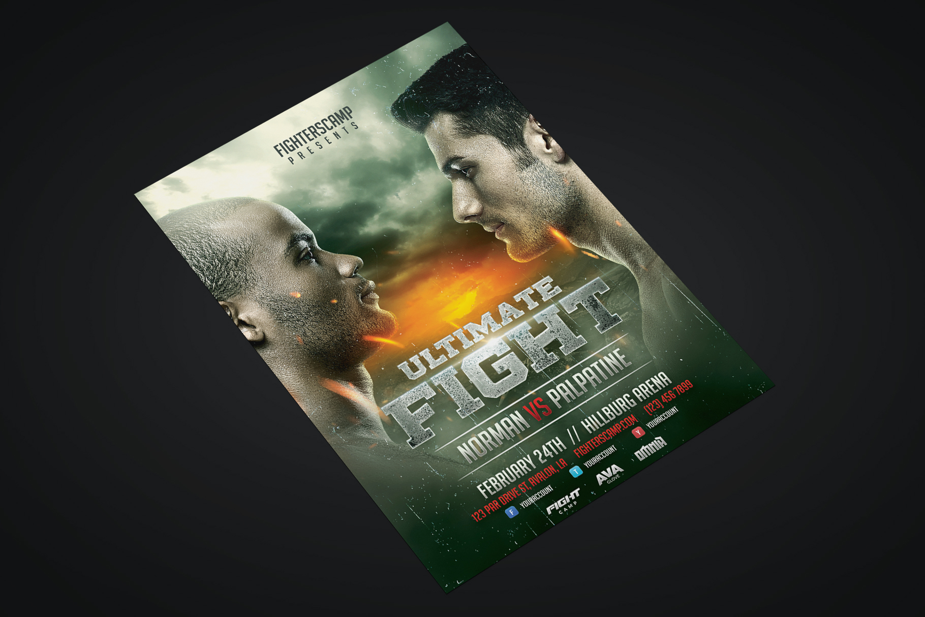 Boxing MMA Poster Template example image 2