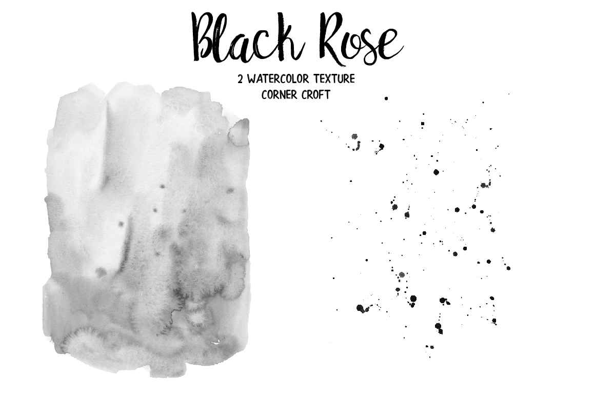 Watercolor Collection Black Rose example image 8
