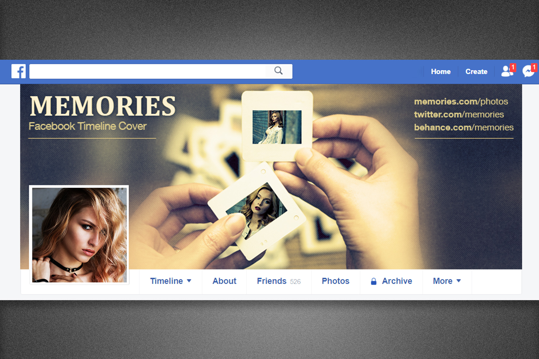 Memories Facebook Timeline Cover example image 5