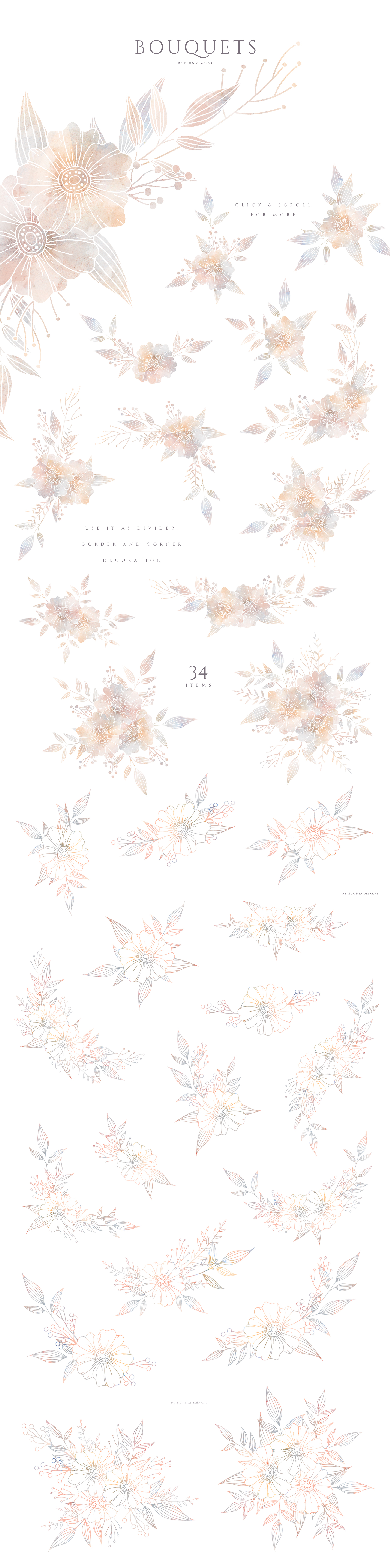 MISTY Dusty Floral Graphics and Monograms example image 4