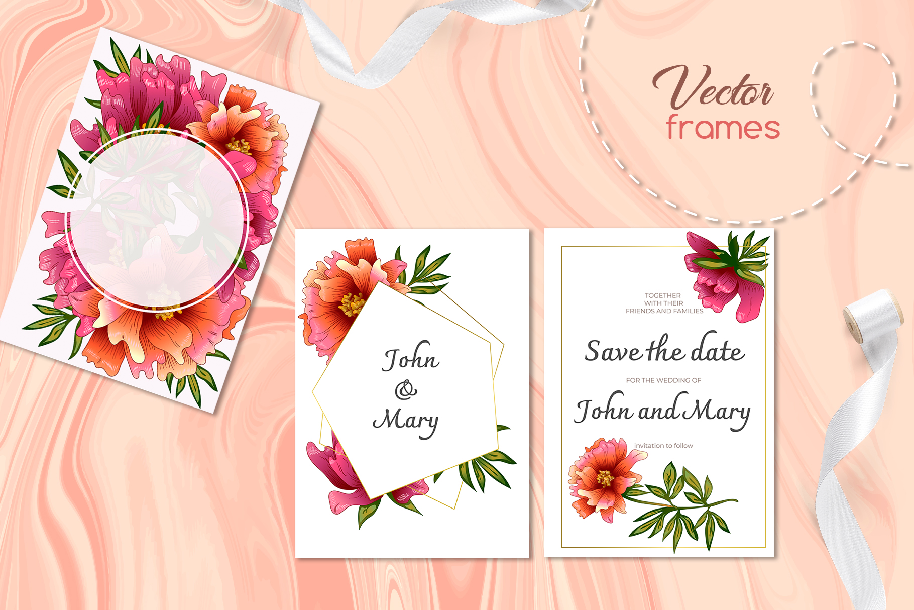 Living coral attributes set Watercolor png example image 7