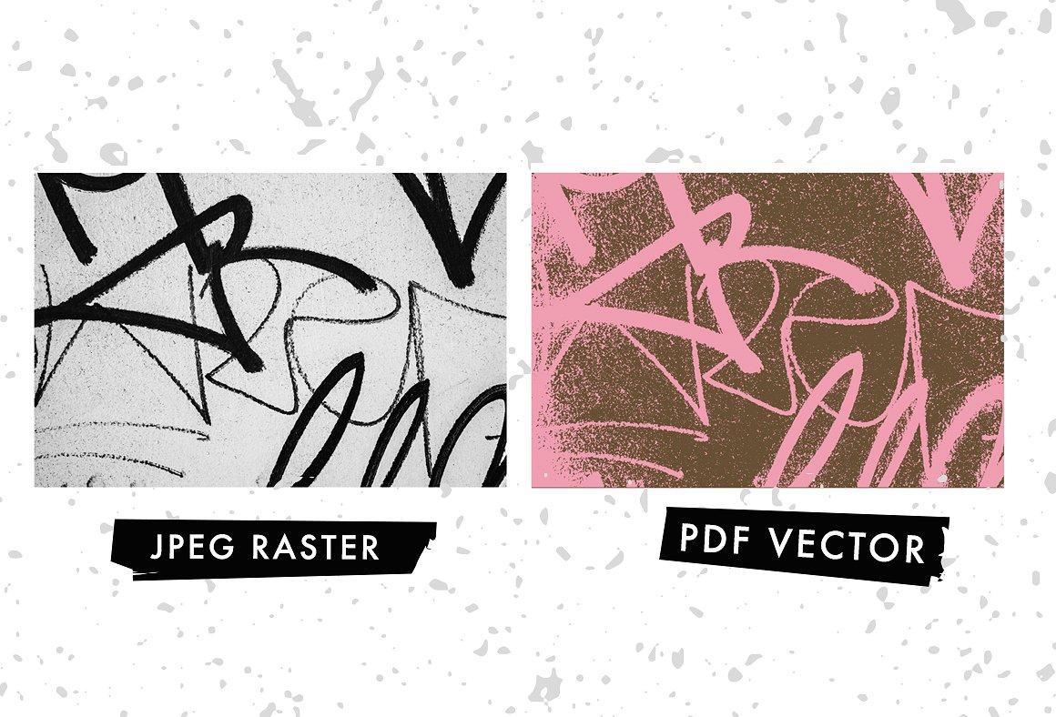 20 Graffiti Textures - Vector & JPG example image 2