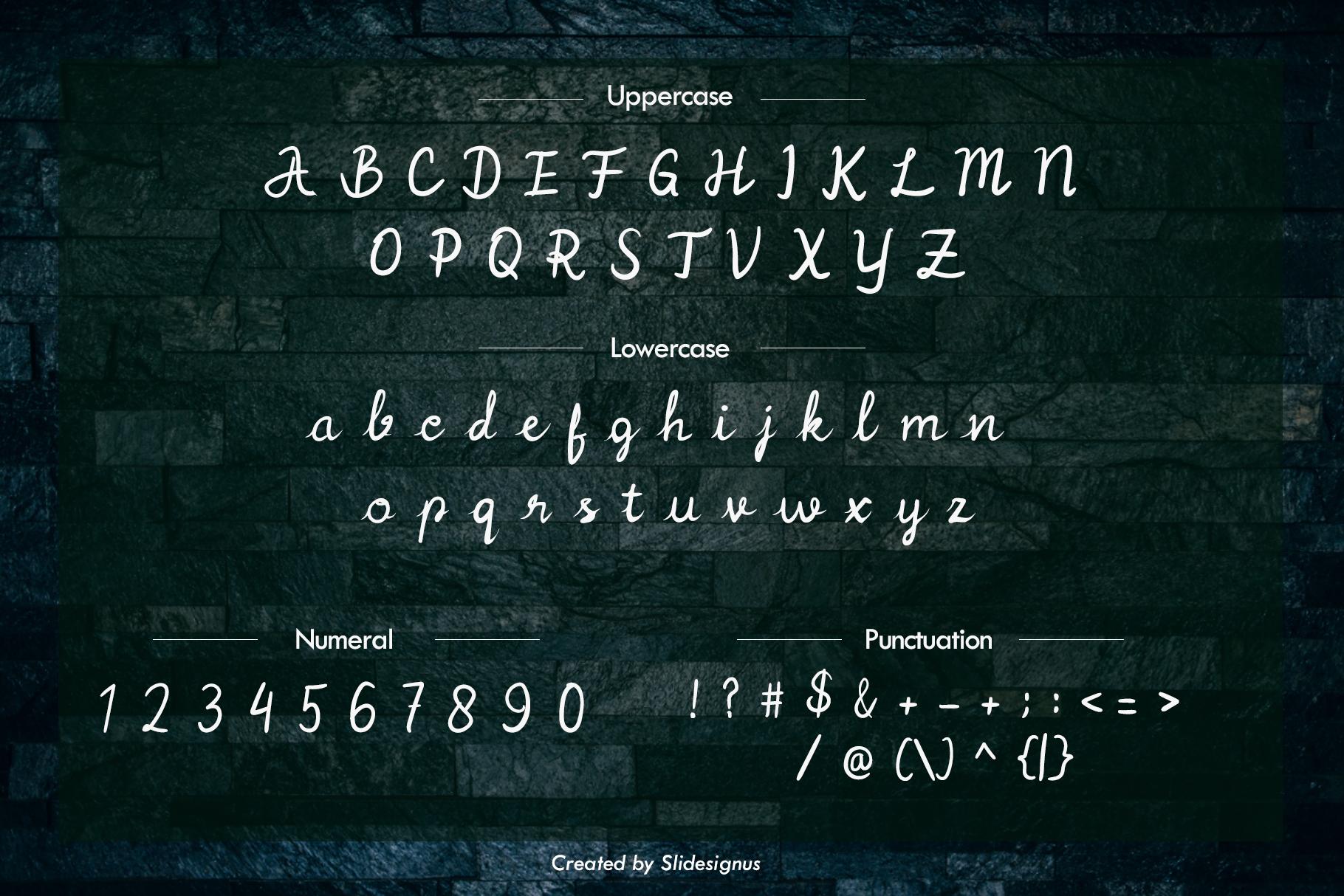 Postciv Script Font example image 3