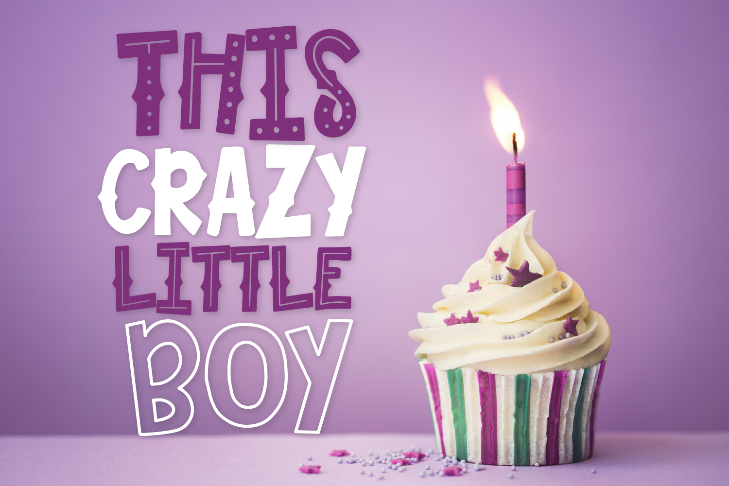 This Crazy Little Boy - A Fun Mixed Style Font Duo example image 1