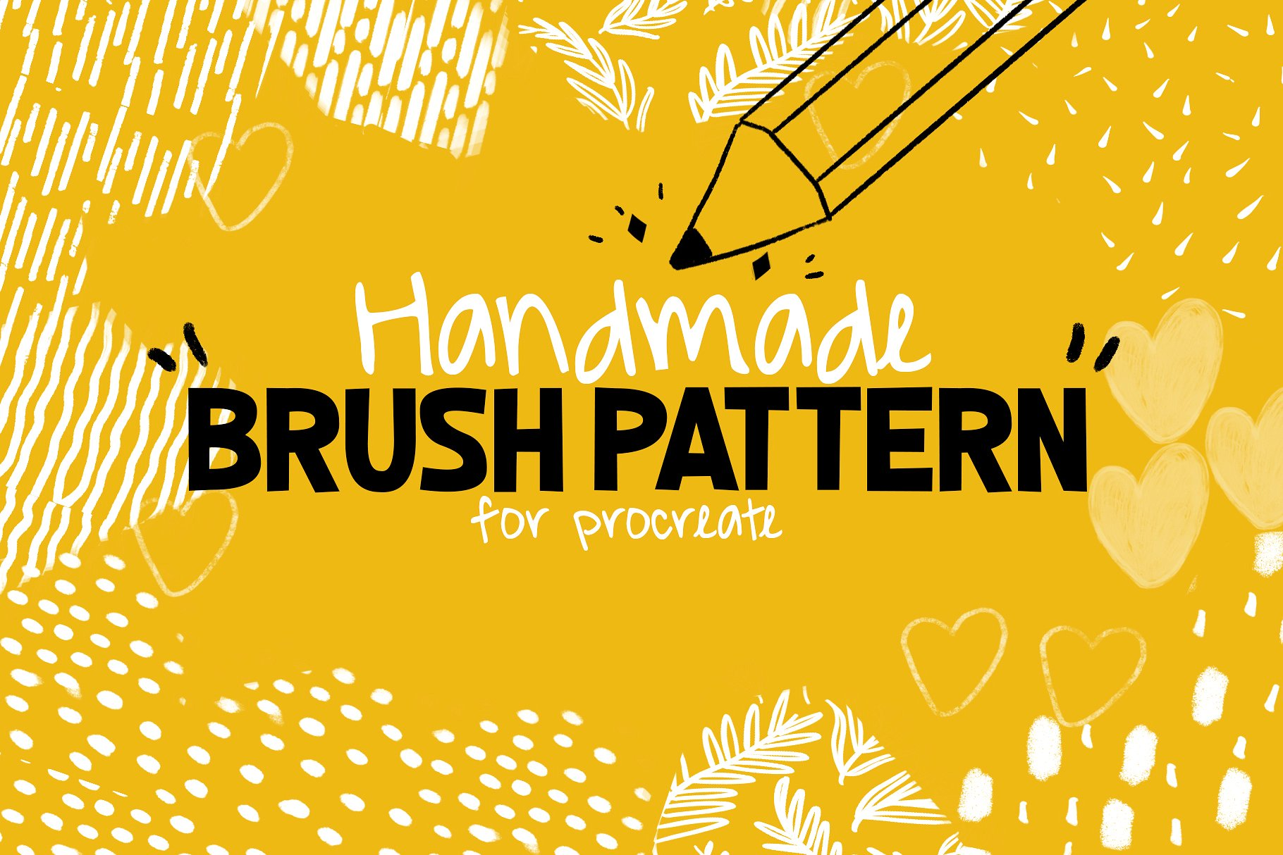 Handmade Brush Pattern - Procreate example image 1