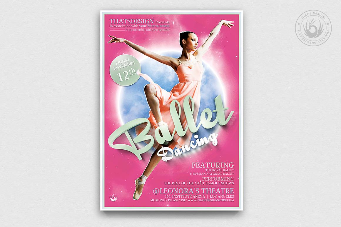 Dance Ballet Flyer Template V2 example image 1