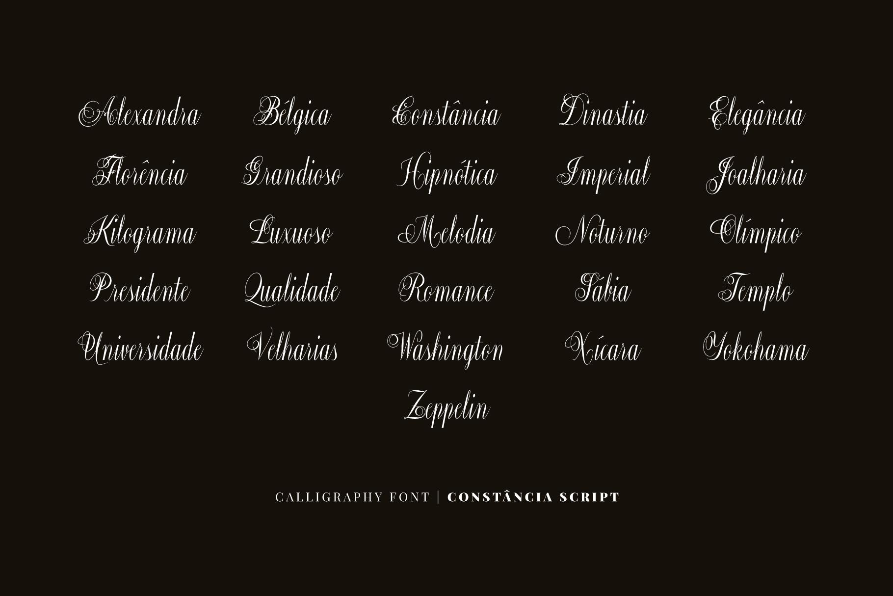 Constância Script Bold example image 5