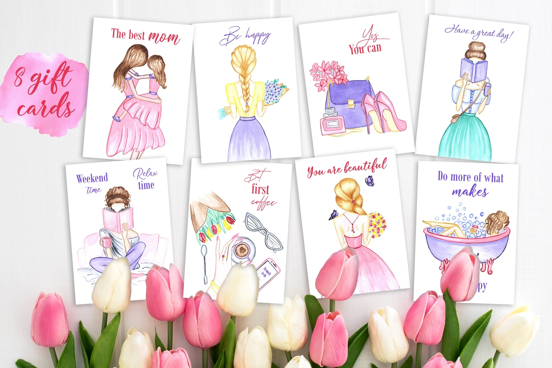 Women's day Card. 8 March example image 2