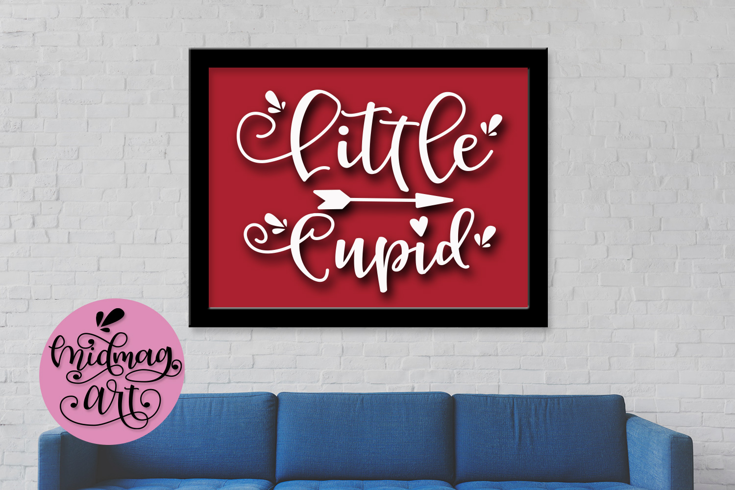 Little Cupid svg, png, jpeg, eps and dxf example image 3