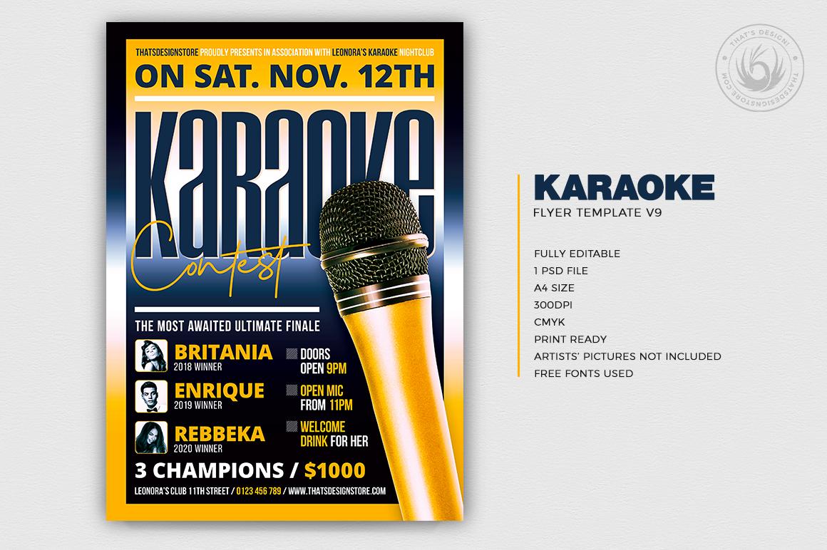 Karaoke Flyer Template V9 example image 2