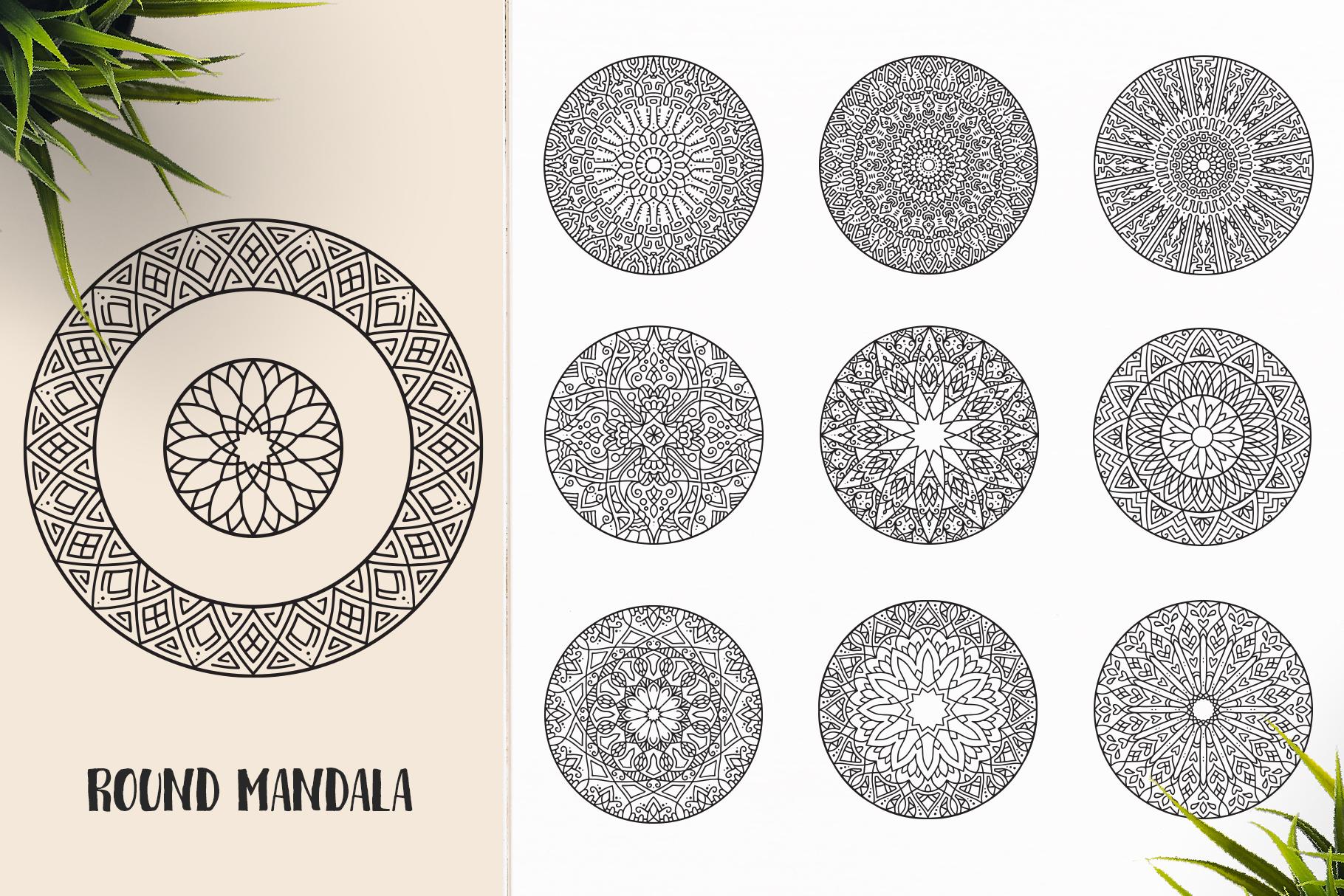 530 Vector Mandala Ornaments Bundle example image 29